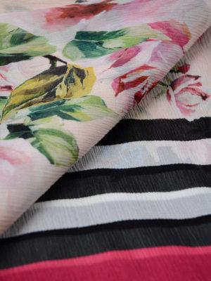 Dolce & Gabbana: scarves online - Floral print silk crepe scarf