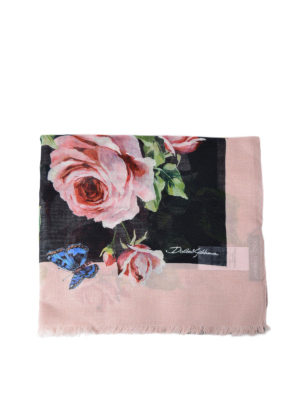 Dolce & Gabbana: scarves - Printed modal and cashmere scarf