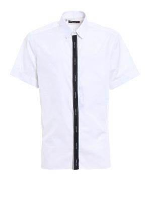 Dolce & Gabbana: shirts - Contrasting logo band shirt