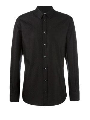 Dolce & Gabbana: shirts - Diamond patterned cotton shirt