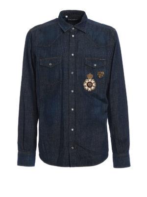Dolce & Gabbana: shirts - Heraldic Sicilia denim shirt
