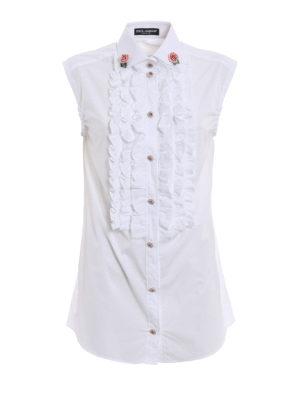 Dolce & Gabbana: shirts - Jewel buttons sleeveless shirt