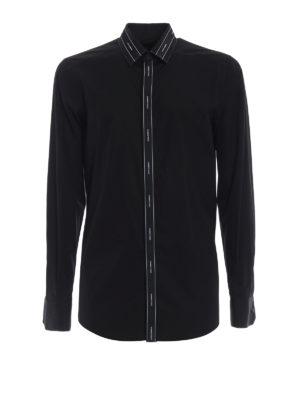 Dolce & Gabbana: shirts - Logomania band black cotton shirt