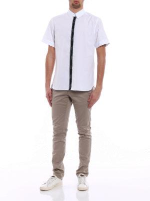 Dolce & Gabbana: shirts online - Contrasting logo band shirt