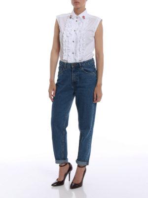 Dolce & Gabbana: shirts online - Jewel buttons sleeveless shirt