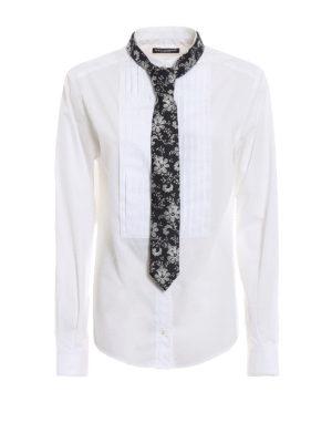 DOLCE & GABBANA: camicie - Camicia in popeline con plastron e cravatta