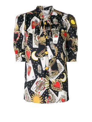 DOLCE & GABBANA: camicie - Camicia in seta stretch stampata