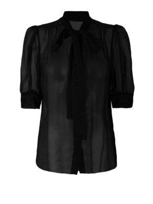 DOLCE & GABBANA: camicie - Camicia in chiffon di misto seta
