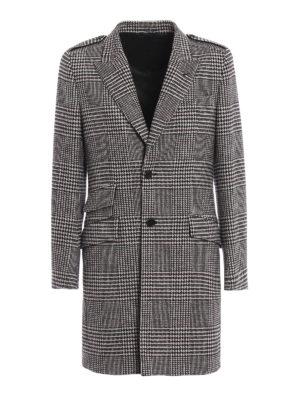 DOLCE & GABBANA: cappotti corti - Cappottino in cotone e lana pied-de-poule