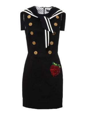 Dolce & Gabbana: short dresses - Cotton sateen sailor dress
