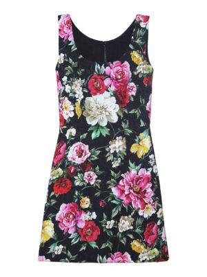DOLCE & GABBANA: abiti corti - Mini abito in broccato floreale