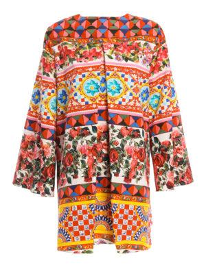 Dolce & Gabbana: short dresses - Mambo print cotton short dress