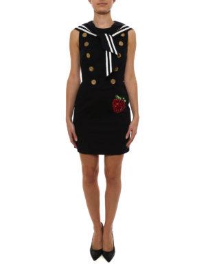 Dolce & Gabbana: short dresses online - Cotton sateen sailor dress