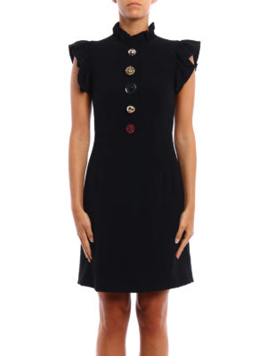 Dolce & Gabbana: short dresses online - Jewel buttons cady dress