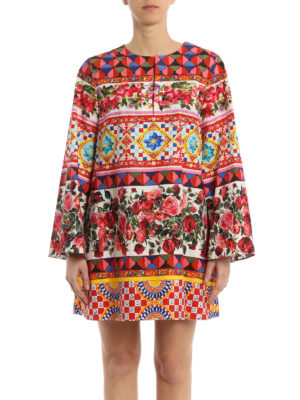 Dolce & Gabbana: short dresses online - Mambo print cotton short dress
