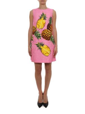 Dolce & Gabbana: short dresses online - Pineapple print brocade dress