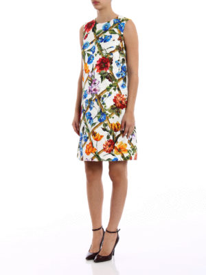 Dolce & Gabbana: short dresses online - Printed damask A-line dress