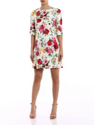 Dolce & Gabbana: short dresses online - Rose print silk dress
