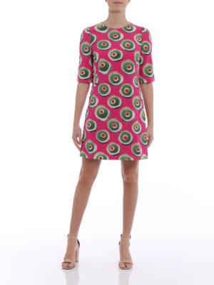 Dolce & Gabbana: short dresses online - Sicilian cassata print silk dress