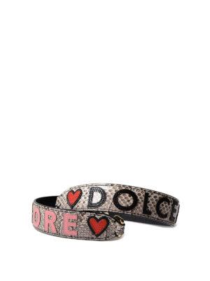 Dolce & Gabbana: shoulder bags - Ayers leather shoulder strap
