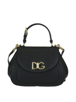 Dolce & Gabbana: shoulder bags - Black Wifi grainy leather bag