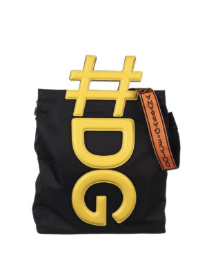Dolce & Gabbana: shoulder bags - Instabag nylon shopping bag