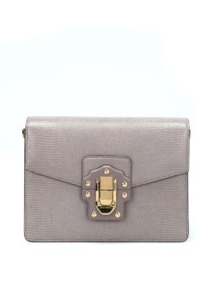 Dolce & Gabbana: shoulder bags - Lucia iguana print leather bag