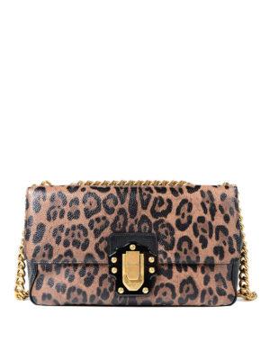 Dolce & Gabbana: shoulder bags - Lucia printed leather handbag