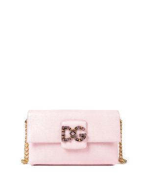Dolce & Gabbana: shoulder bags - Millennials iguana print bag