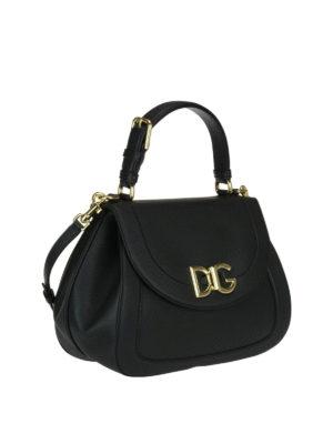 Dolce & Gabbana: shoulder bags online - Black Wifi grainy leather bag