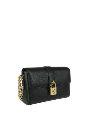 Dolce & Gabbana: shoulder bags online - Dolce bag with flower charm