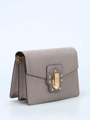 Dolce & Gabbana: shoulder bags online - Lucia iguana print leather bag