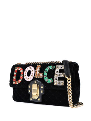 Dolce & Gabbana: shoulder bags online - Lucia quilted velvet bag