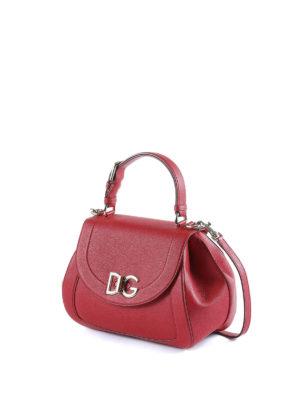 Dolce & Gabbana: shoulder bags online - Wifi red hammered leather bag