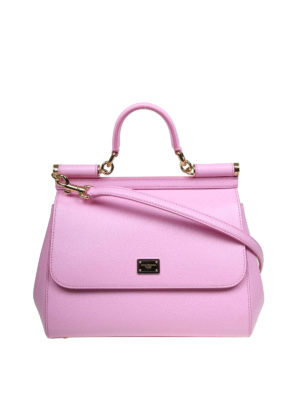 DOLCE   GABBANA  borse a spalla - Borsa Sicily media color rosa confetto 72bc679e6fa