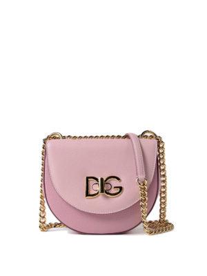 Dolce & Gabbana: shoulder bags - Wifi medium leather bag