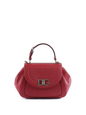 Dolce & Gabbana: shoulder bags - Wifi red hammered leather bag