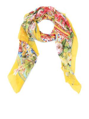 Dolce & Gabbana: Stoles & Shawls - Carretto Siciliano print silk shawl