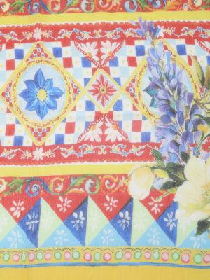 Dolce & Gabbana: Stoles & Shawls online - Carretto Siciliano print silk shawl