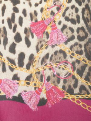 Dolce & Gabbana: Stoles & Shawls online - Leo print silk shawl