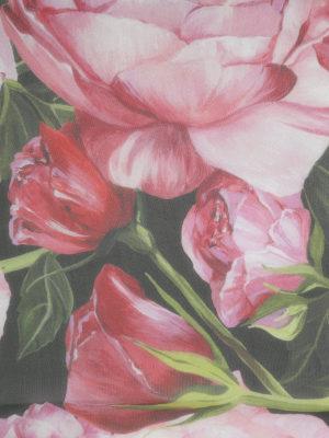 Dolce & Gabbana: Stoles & Shawls online - Roses print silk shawl