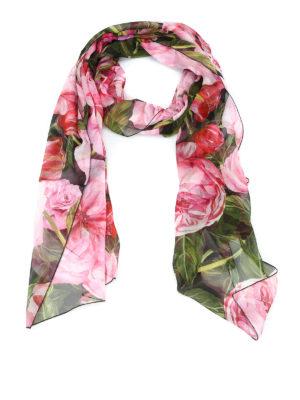 Dolce & Gabbana: Stoles & Shawls - Roses print silk shawl