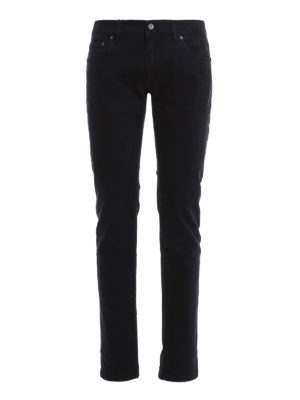 Dolce & Gabbana: straight leg jeans - Back bee embroidery jeans