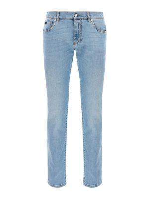 DOLCE & GABBANA: straight leg jeans - Denim straight leg jeans