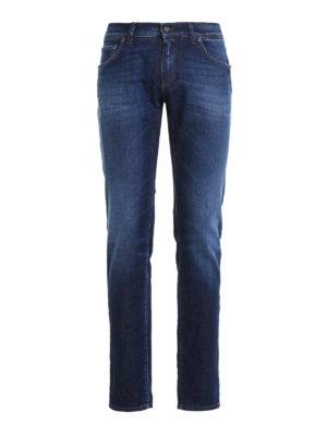 Dolce & Gabbana: straight leg jeans - Faded denim classic jeans