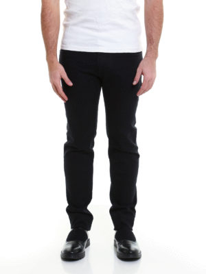 Dolce & Gabbana: straight leg jeans online - Back bee embroidery jeans