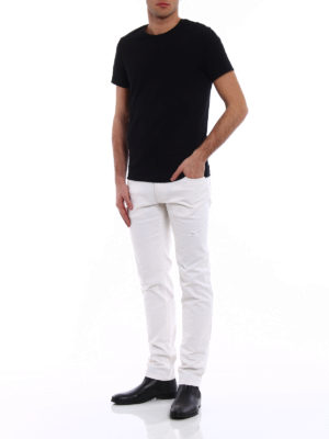 Dolce & Gabbana: straight leg jeans online - Classic jeans with small rips