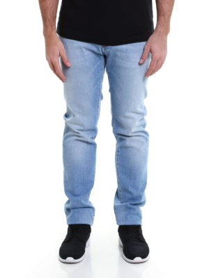 Dolce & Gabbana: straight leg jeans online - Faded denim classic jeans
