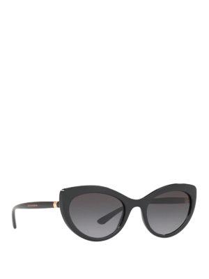 DOLCE & GABBANA: sunglasses - Black cat-eye sunglasses
