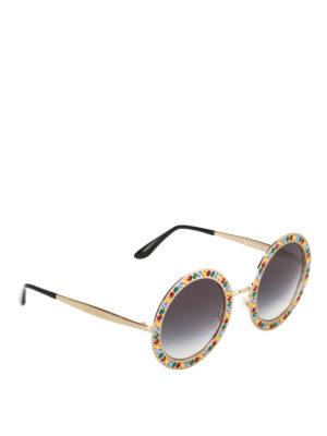 Dolce & Gabbana: sunglasses - Rhinestone embellished sunglasses